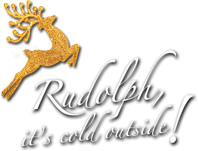 Logo Rudolph, it's cold outside!